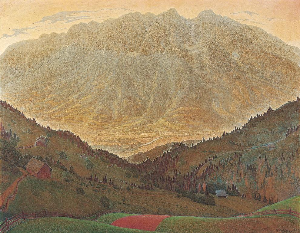 GRIMMING 162 x 120 cm, Oel auf Holzfaseplatte, 1945