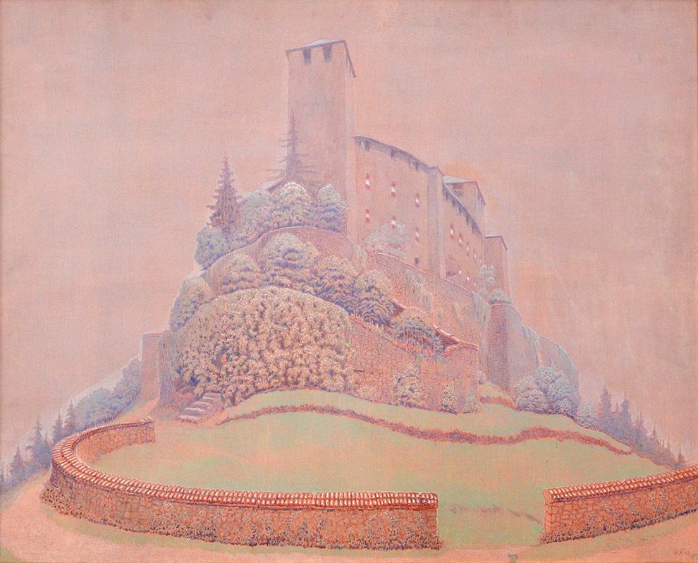 CASTELL II, 110x110 cm, Oel auf Pressspanplatte 1965
